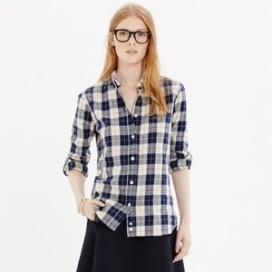 Madewell x Penfield | Navy Plaid Flannel Shirt